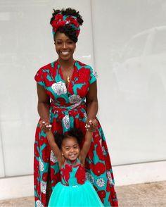 Mummy and me outfit Ankara dress women's dress mother African Fashion Ankara, Latest African Fashion Dresses, African Print Fashion, African Inspired Fashion, African Dresses For Kids, African Print Dresses, African Babies, African Attire, African Wear