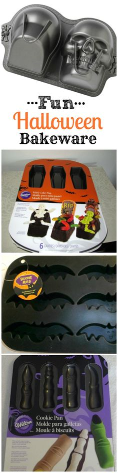 "Fun Halloween Bakeware perfect for your upcoming ""spooky"" entertaining!"