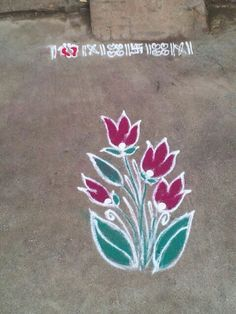 Simple rangoli!!                                                                                                                                                                                 More