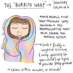 We can totally vouch for the soothing that comes from being a burrito wrap ? via We can totally vouch for the soothing that comes from being a burrito wrap ? Burrito Wrap, Coaching, Stress, Anxiety Help, Therapy Tools, Coping Skills, Therapy Activities, Sensory Activities, Mental Health Awareness