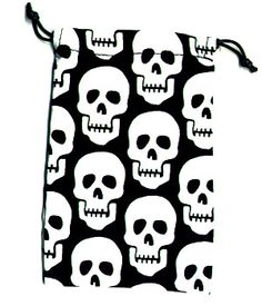 Surgical Scrub Sack Row of Skulls 100% cotton made in the USA