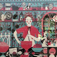 'Jam Making' by Alice Pattullo (screen print)