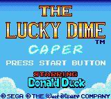 Lucky Dime Caper pantalla de inicio