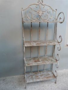 Vintage Wrought Iron Stand for Towels, etc.