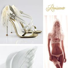 your wedding sandals with feathers and a golden touch Swansea, Wedding Themes, Bridal Shoes, Wedding Details, Bikinis, Swimwear, High Heels, Wedding Inspiration, Bride