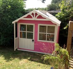 The pinkiest of pink wendy houses ever!