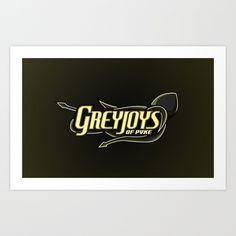 Greyjoys of Pyke Art Print by Vanadium