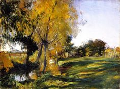 John Singer Sargent 1885c Landscape at Broadway oil on canvas 45.7 x 61.6 cm Private Collection