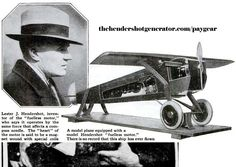 """In the 1920's Lester Hendershot was working on a new type of aviation compass. He stumbled across a method of generating energy. His """"Hendershot magnetic motor"""" drew attention of the press and attracted big name investors as Charles Lindberg."""