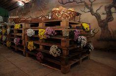 decoração rústica p/ mesa de doces