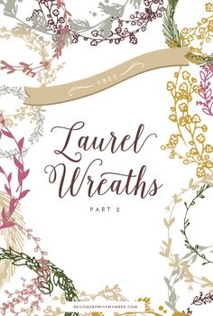 Laurel wreath graphics // perfect for wedding invitations, printables, cards, logos, and more!