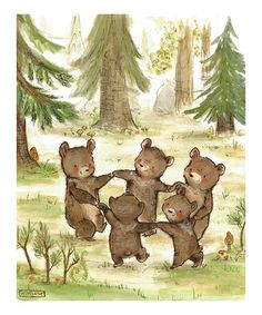 Another great find on #zulily! Bear Dance Print #zulilyfinds