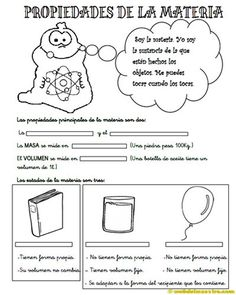 Propiedades-de-la-materia-para-3º-de-primaria Stem Science, Science For Kids, Science Activities, Science Projects, Science And Nature, Matter Science, Third Grade Science, Spanish Classroom, Reading Groups