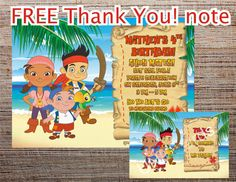 JAKE and the neverland Pirates invitation Printable by UNIQcards