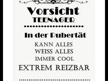 """Kunstdruck Bild Spruch """"Teenager"""""""