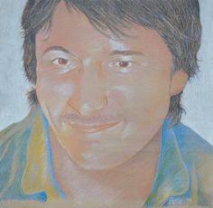 portrait of Matt (eldest son) - sept 2013 - coloured pencil - pete holbrook