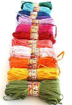 Rafia #yarn by #Adriafil... lovely <3 Enjoy your #crafts! http://www.adriafil.com/uk/scheda-filato.html?id_cat=12&id_gr=3&id_filato=IF