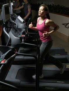 treadmill intervals to burn belly fat - totally doable...highest speed is 7 mph.