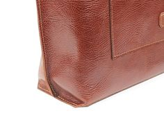 Cognac leather tote bag / Brown leather bag / Brown by InnesBags