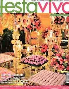 Revista Festa Viva Ano II Edição 12 | Revistas de decorações de Festas, casamento e Gastronomia