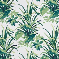 This is a green and white floral leaf design cotton drapery fabric by Robert Allen Fabrics, suitable for any decor. Perfect for pillows, drapes and bedding.v149NEF