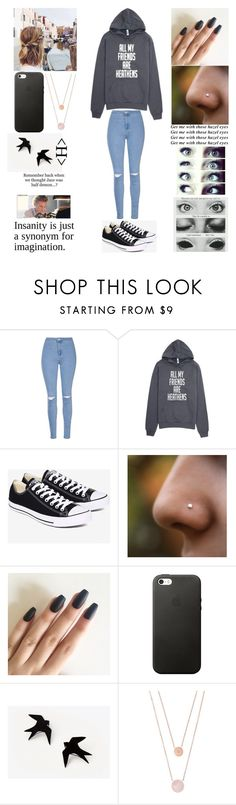 """""""How Ya Doin?"""" by oliviacoulanges ❤ liked on Polyvore featuring Glamorous, Converse and Michael Kors"""