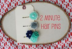 mrs priss shows us how to make two -minute hairpins with flower embellishments from the dollar bins at Michaels.