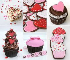Valentine's Sweets, Treats and Ideas - Glorious Treats Valentines Day Food, My Sweet Valentine, Valentine Cookies, Cupcake Cookies, Sugar Cookies, Heart Cupcakes, Valentine Desserts, Cookie Frosting, Diy Valentine