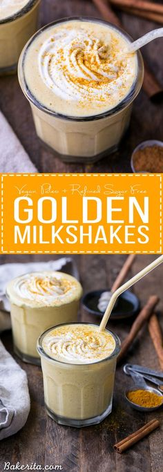 Golden Milkshakes are smooth, creamy, and refreshing, and they're loaded with anti-inflammatory turmeric and other health-boosting spices. This easy drink recipe is one you'll love sipping on hot days! @lovemysilk #ad
