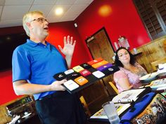 Craig and Gwen at CAAMPFire Lunch & Learn on July 22, 2014.
