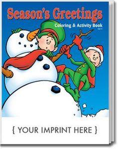 Season's Greetings Coloring Book