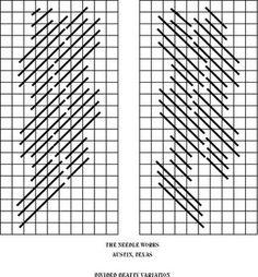 Januar 26- Divided beaty needlepoint stitch AKA vertical diagonal triple parisian