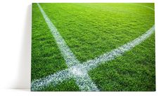 Fotbollsplan tavla   Canvastavla   Fotboll   Gräs   Gräsmatta