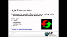Getting Business Value Out Of Agile Retrospectives  http://www.itmpi.org/subscribe  In this webinar, you will learn how to prepare and facilitate an agile retrospective, how to create an environment conducive to such retrospectives, and how to get more business value out of them.  http://www.itmpi.org/subscribe