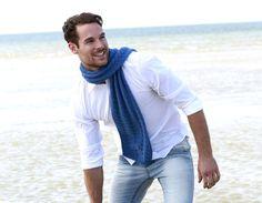 Dieser Schal mit Strukturmuster ist nicht nur etwas für Herren, auch Damen und Kinder freuen sich über ein solch weichen und leichten Schal.