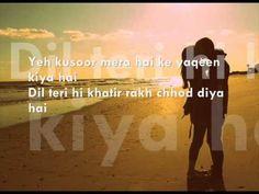 Jism 2 - Yeh Kasoor - Full Song With Lyrics. - YouTube