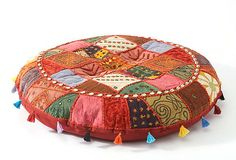 Great for the Moroccan Bar downstairs  Patchwork Floor Cushion, Red/Multi on OneKingsLane.com