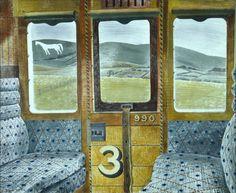 Eric Ravilious, Train Landscape, 1939 (Aberdeen Art Gallery)