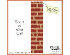 Brick in the Wall - Peyote Stitch Pattern for cuff bracelet -  INSTANT DOWNLOAD pdf - Multibuy savings with coupon codes - bp230