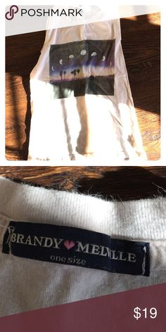 Brandy Melville sunset tank Super cute tank from brandy that I only wore like twice! Brandy Melville Tops Tank Tops