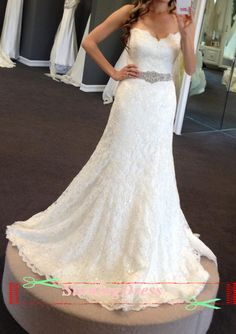 Lace Wedding Dress Wedding Gown Beaded Wedding door StunningDress, $289.99