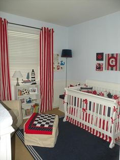 Capecod Nautical Nursery, could probably settle for red if I can't find what I want in pink!