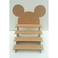 Porta Doces Escada Mdf Mickey E Minnie - R$ 12,90