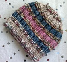 Ravelry: Easy ribs and stripes hat pattern by Christine Roy