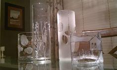 DIY etched glass vases