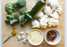 Easy Roasted Broccoli and Cauliflower | Mediterranean-style Roast Broccoli And Cauliflower, Cauliflower Cheese, Plant Based Nutrition, Mediterranean Style, Vegetarian Recipes, Tasty, Vegetables, Cooking, Ethnic Recipes