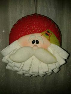 Beard made from folded felt Felt Ornaments, Holiday Ornaments, Holiday Crafts, Christmas Decorations, Felt Christmas, Winter Christmas, Xmas, Felted Wool Crafts, Felt Crafts