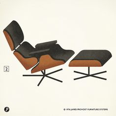 "2. ""Eames lounge"" Charles & Ray Eames. 1956. Herman Miller."