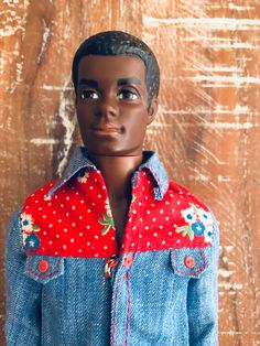 "Brad is the first black male doll in the Barbie line. There were two Brads that debuted in 1970. This one and earlier in the year, ""New Talking Brad"" #1114 who was introduced on the box as Christie's boyfriend. He wore orange shorts with a colorful orange, yellow and olive jacket to match Talking Christie's outfit. #CoupleGoals Unfortunately, Brad was only produced from 1970 – 1972. In 1975, a black male doll was introduced by Mattel and his name was Free Moving Curtis #7282."