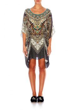 11ead48ecc CAMILLA - THE BODYGUARD SHORT ROUND NECK KAFTAN
